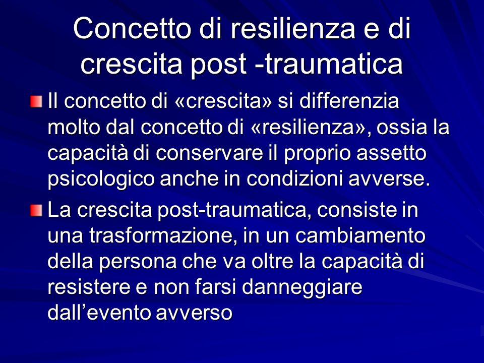 La resilienza,quindi, può essere considerata come la capacità di «uscire» positivamente da esperienze traumatiche, conservando la propria omeostasi precedente l'evento traumatico,