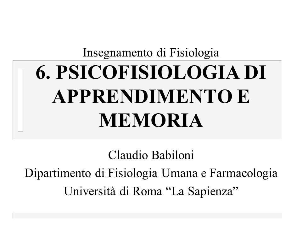 Claudio Babiloni, Neurofisiologia Notizie utili n Testo consigliato: Carlson N., Fondamenti di Psicologia Fisiologica, V edizione, ed.