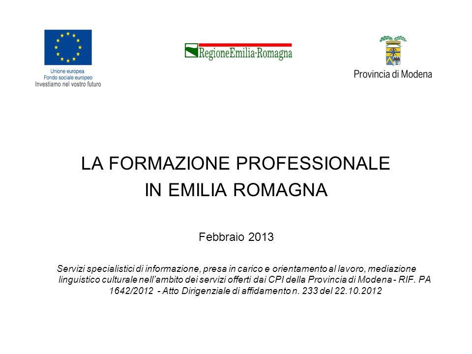 Portale Regione Emilia Romagna sul sistema della formazione (FSE)