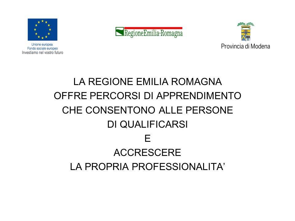 ORIENTER Banca dati delle opportunità per la tua istruzione, formazione e lavoro in Emilia Romagna: schede aggiornate e dettagliate sulle opportunità formative finanziate dal FSE