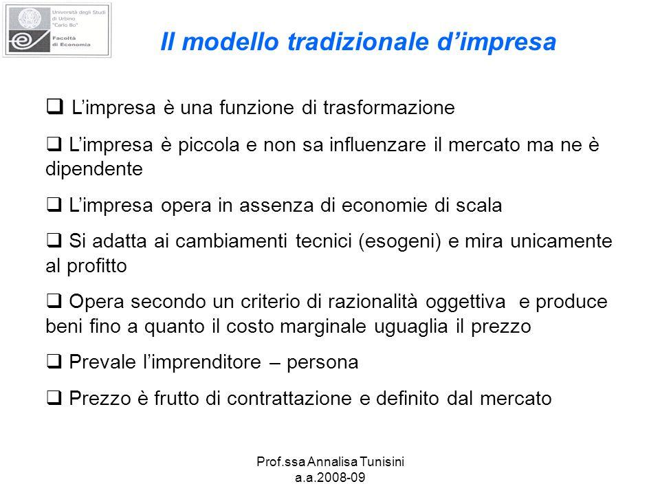 Prof.ssa Annalisa Tunisini a.a.2008-09 Intelligenza terziaria e sviluppo economico (E.