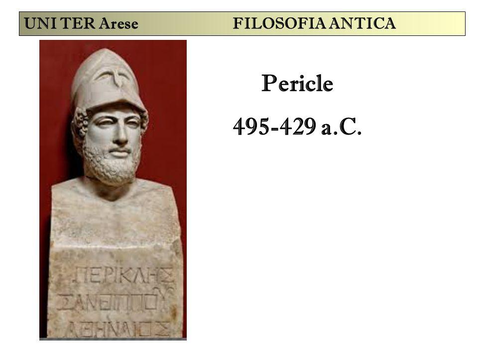 Pericle 495-429 a.C. UNI TER Arese FILOSOFIA ANTICA
