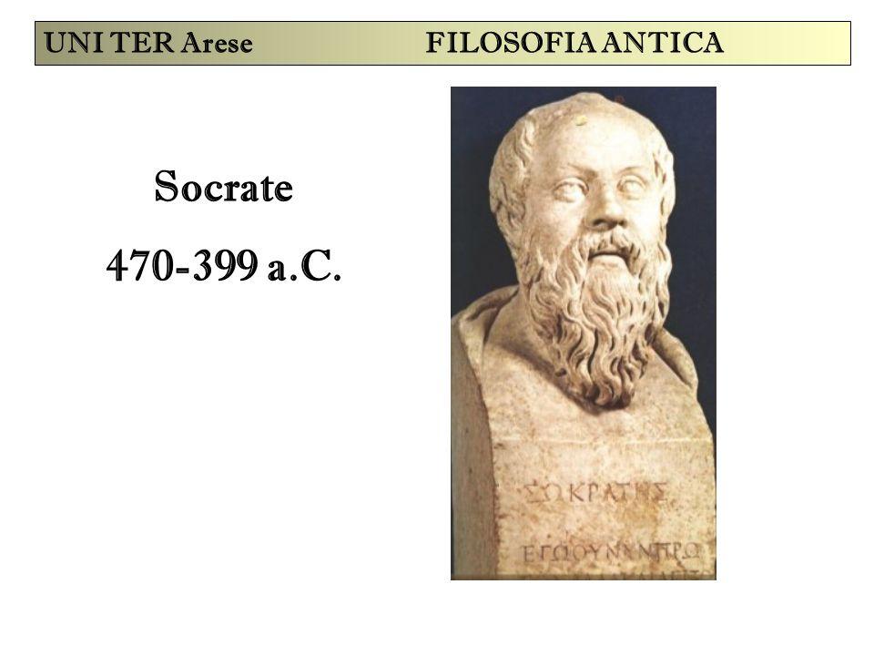Socrate 470-399 a.C. UNI TER Arese FILOSOFIA ANTICA