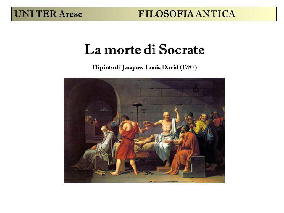La morte di Socrate Dipinto di Jacques-Louis David (1787) UNI TER Arese FILOSOFIA ANTICA