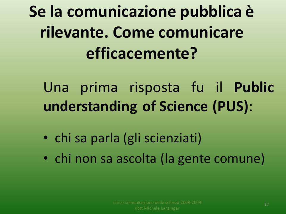 Se la comunicazione pubblica è rilevante. Come comunicare efficacemente.
