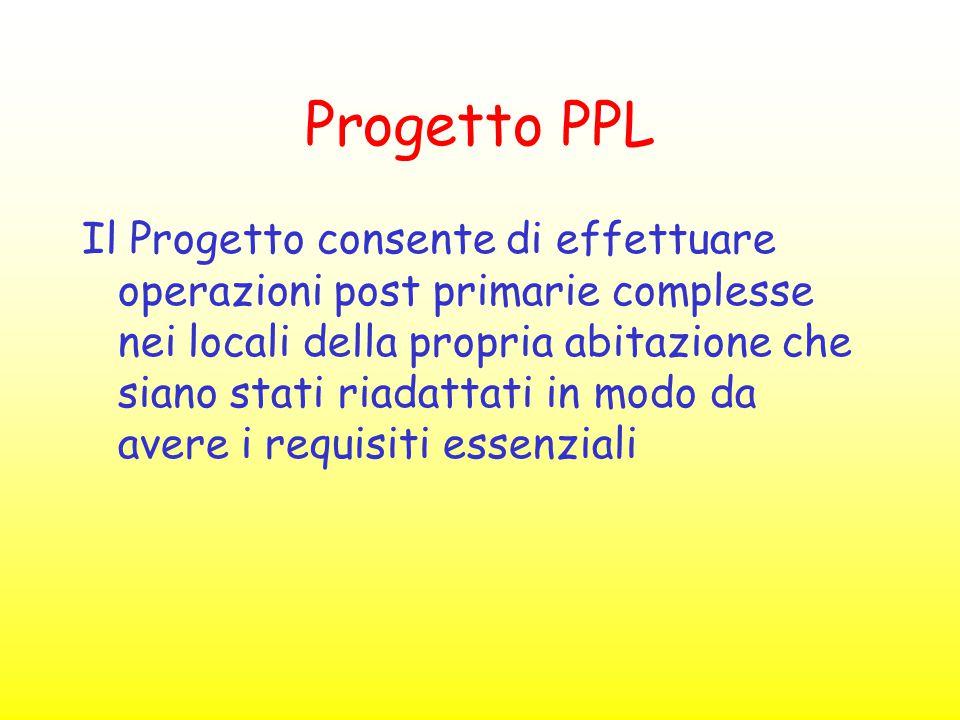 Progetto PPL Il Progetto consente di effettuare operazioni post primarie complesse nei locali della propria abitazione che siano stati riadattati in m