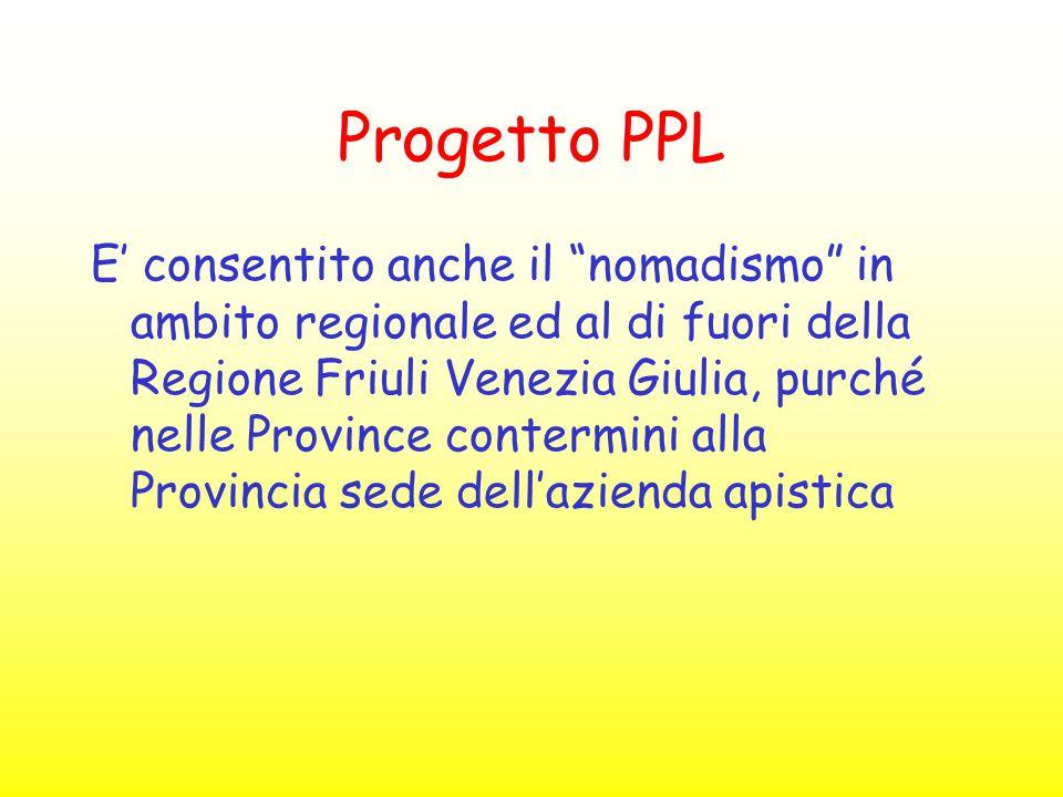"""Progetto PPL E' consentito anche il """"nomadismo"""" in ambito regionale ed al di fuori della Regione Friuli Venezia Giulia, purché nelle Province contermi"""