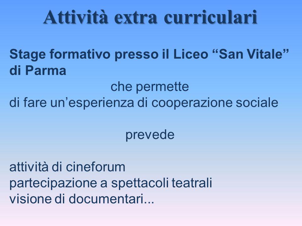 """Stage formativo presso il Liceo """"San Vitale"""" di Parma che permette di fare un'esperienza di cooperazione sociale prevede attività di cineforum parteci"""