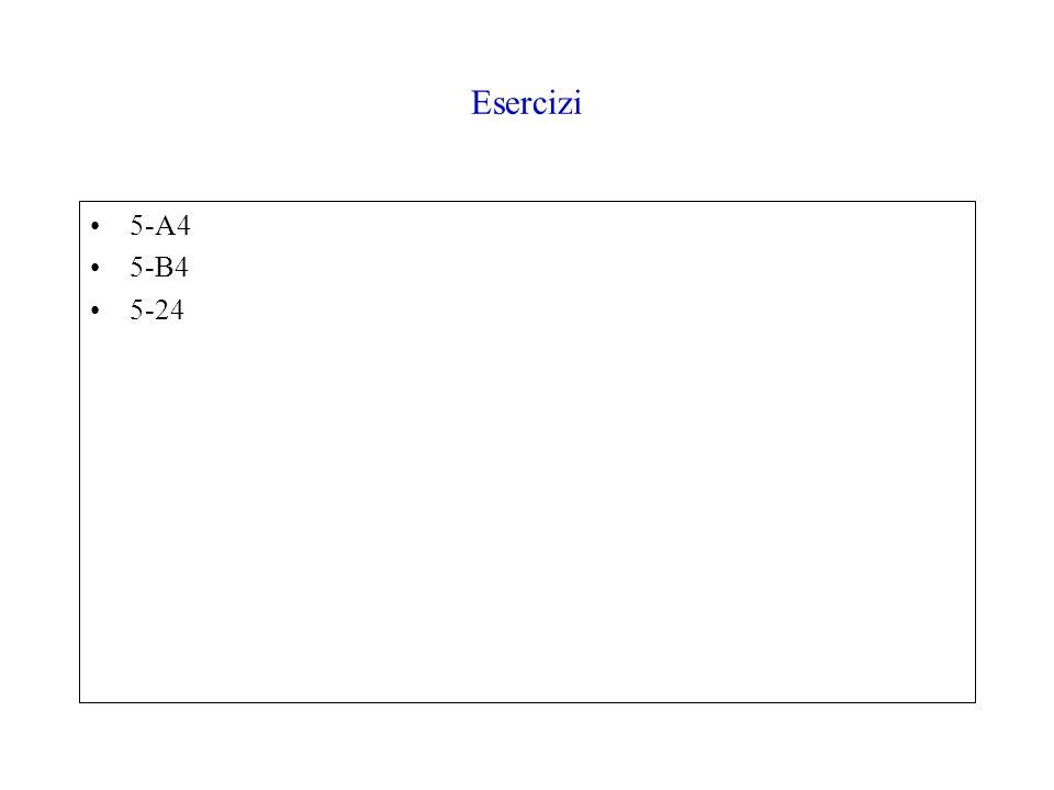 Esercizi 5-A4 5-B4 5-24