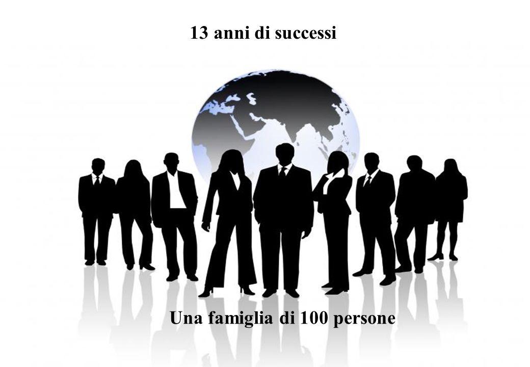13 anni di successi Una famiglia di 100 persone