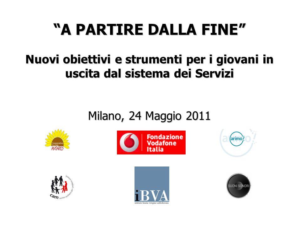 A PARTIRE DALLA FINE Nuovi obiettivi e strumenti per i giovani in uscita dal sistema dei Servizi Milano, 24 Maggio 2011