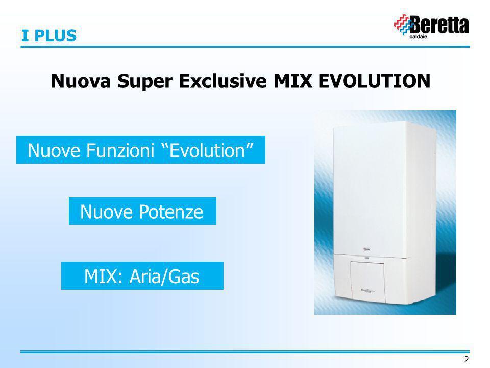 """2 Nuove Funzioni """"Evolution"""" Nuove Potenze MIX: Aria/Gas Nuova Super Exclusive MIX EVOLUTION I PLUS"""