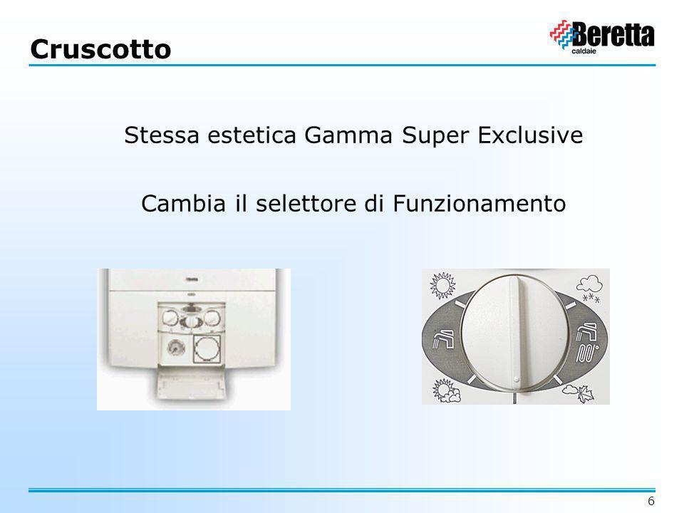 6 Cruscotto Stessa estetica Gamma Super Exclusive Cambia il selettore di Funzionamento