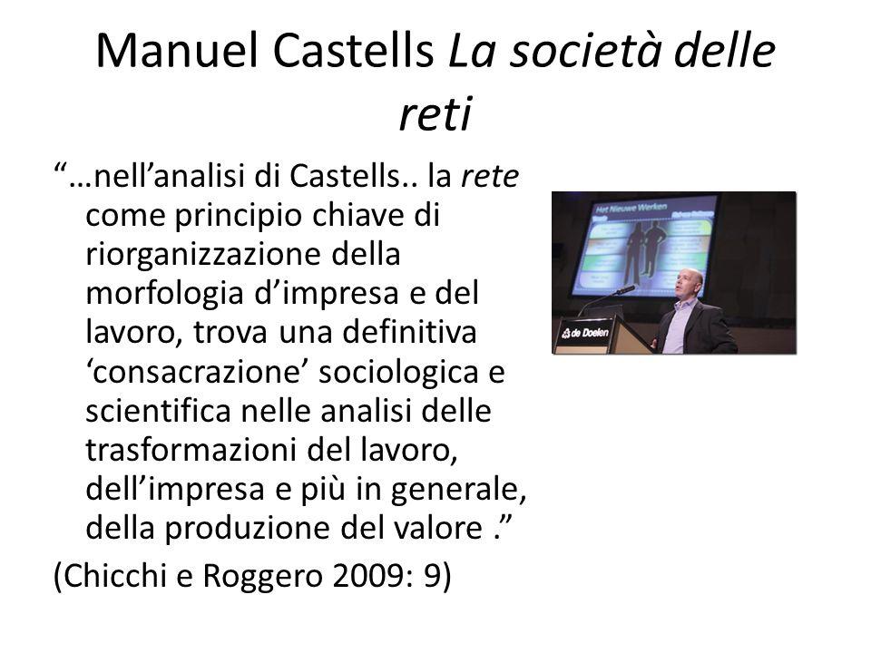 Manuel Castells La società delle reti …nell'analisi di Castells..