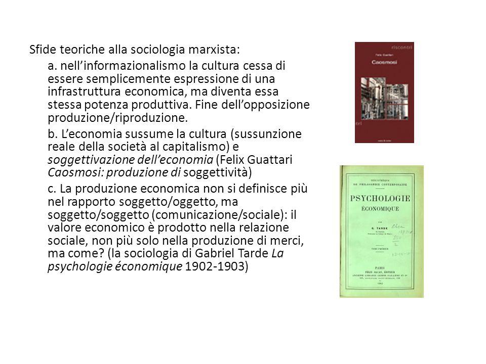 Sfide teoriche alla sociologia marxista: a.