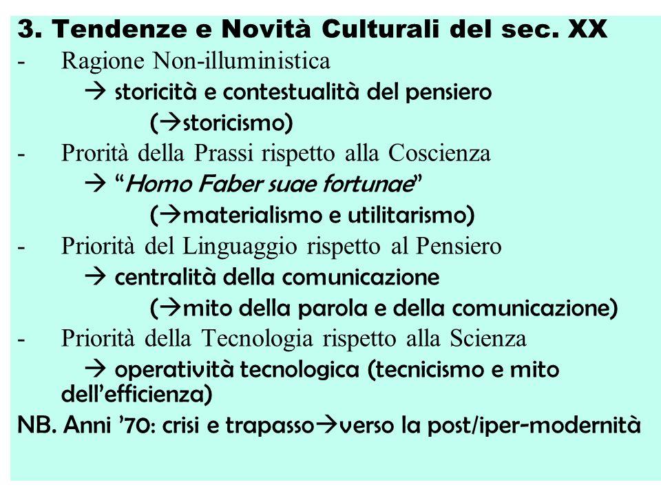 3.Tendenze e Novità Culturali del sec.