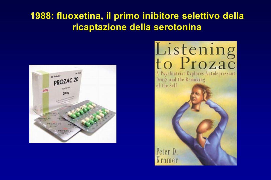 1988: fluoxetina, il primo inibitore selettivo della ricaptazione della serotonina