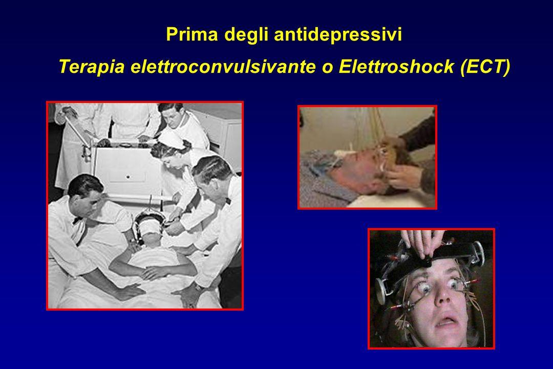 Prima degli antidepressivi Terapia elettroconvulsivante o Elettroshock (ECT)