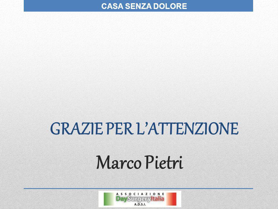 Marco Pietri GRAZIE PER L'ATTENZIONE CASA SENZA DOLORE