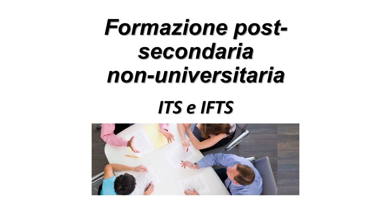 Formazione post- secondaria non-universitaria ITS e IFTS