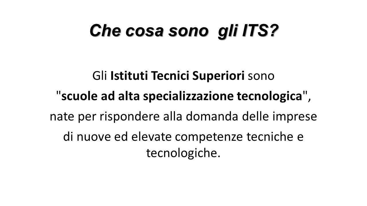 Che cosa sono gli ITS? Gli Istituti Tecnici Superiori sono