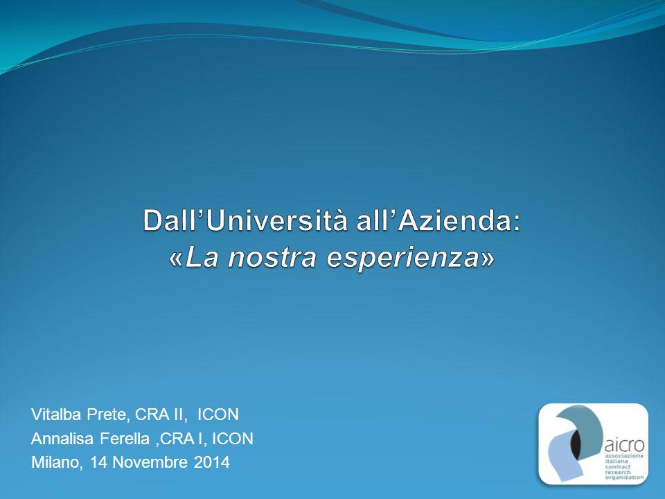 Vitalba Prete, CRA II, ICON Annalisa Ferella,CRA I, ICON Milano, 14 Novembre 2014