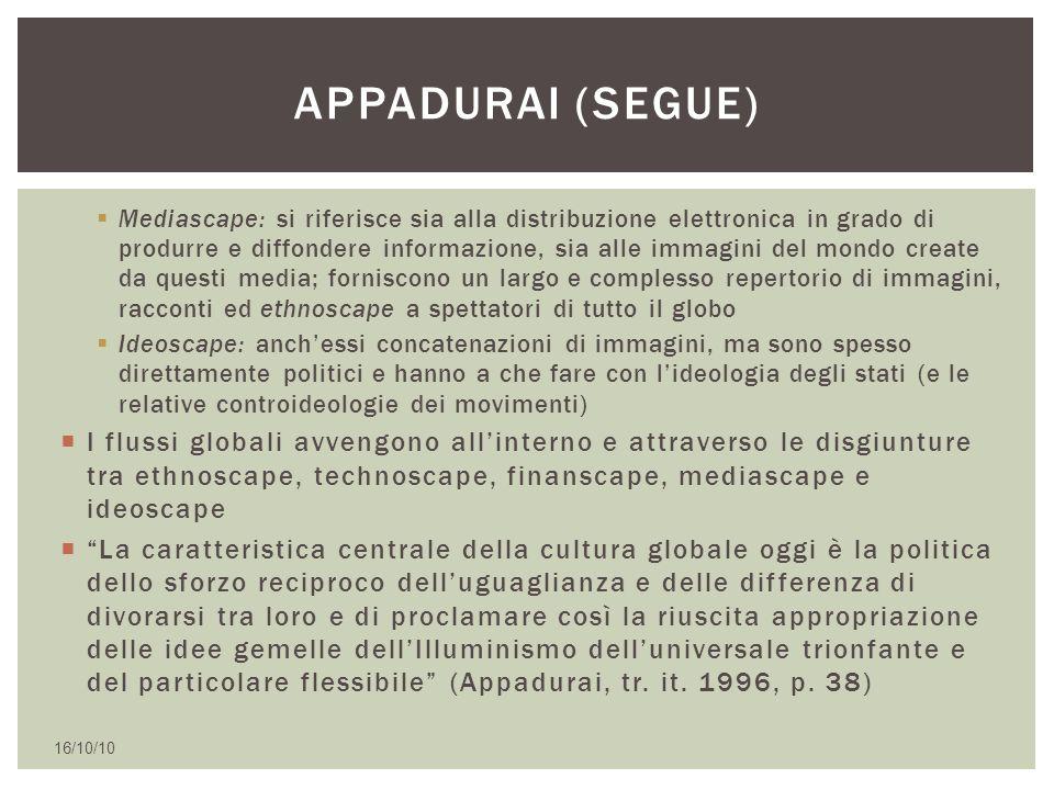  Mediascape: si riferisce sia alla distribuzione elettronica in grado di produrre e diffondere informazione, sia alle immagini del mondo create da qu