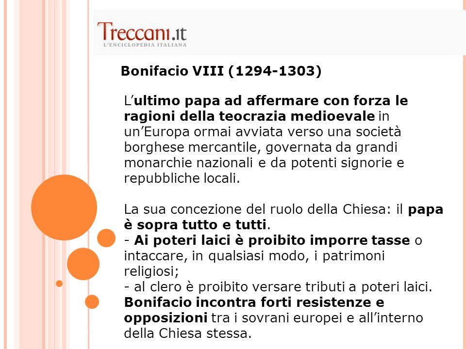 L'ultimo papa ad affermare con forza le ragioni della teocrazia medioevale in un'Europa ormai avviata verso una società borghese mercantile, governata