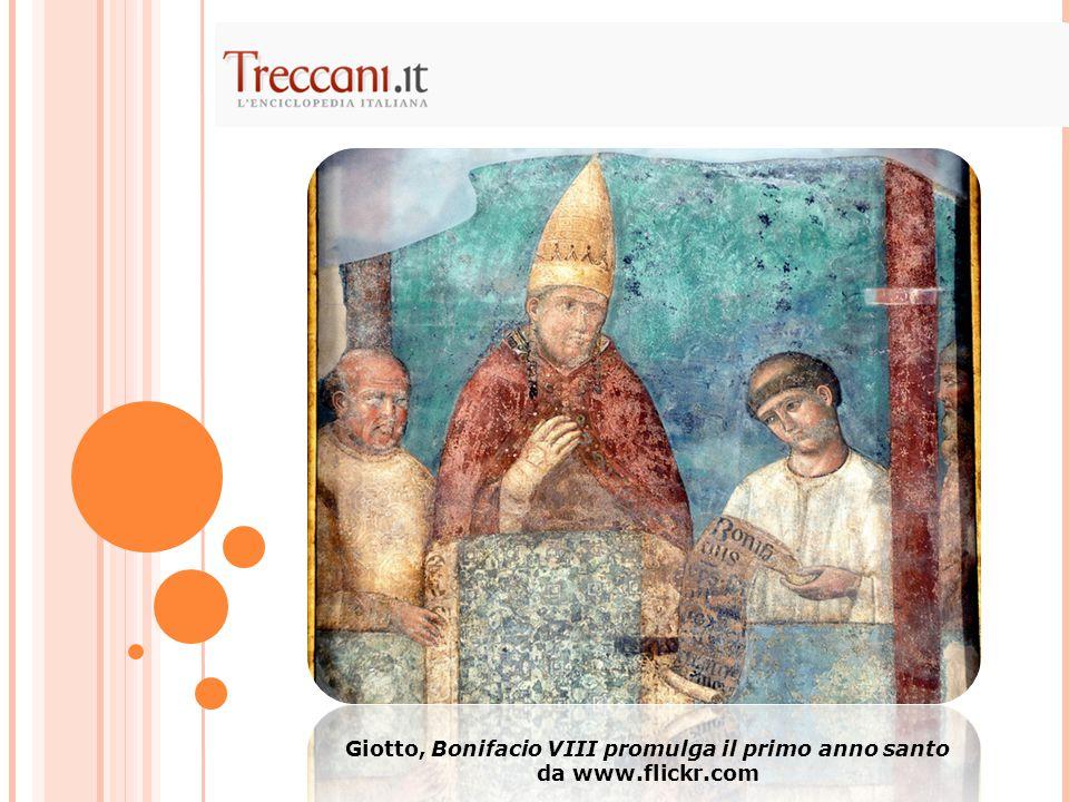 Giotto, Bonifacio VIII promulga il primo anno santo da www.flickr.com