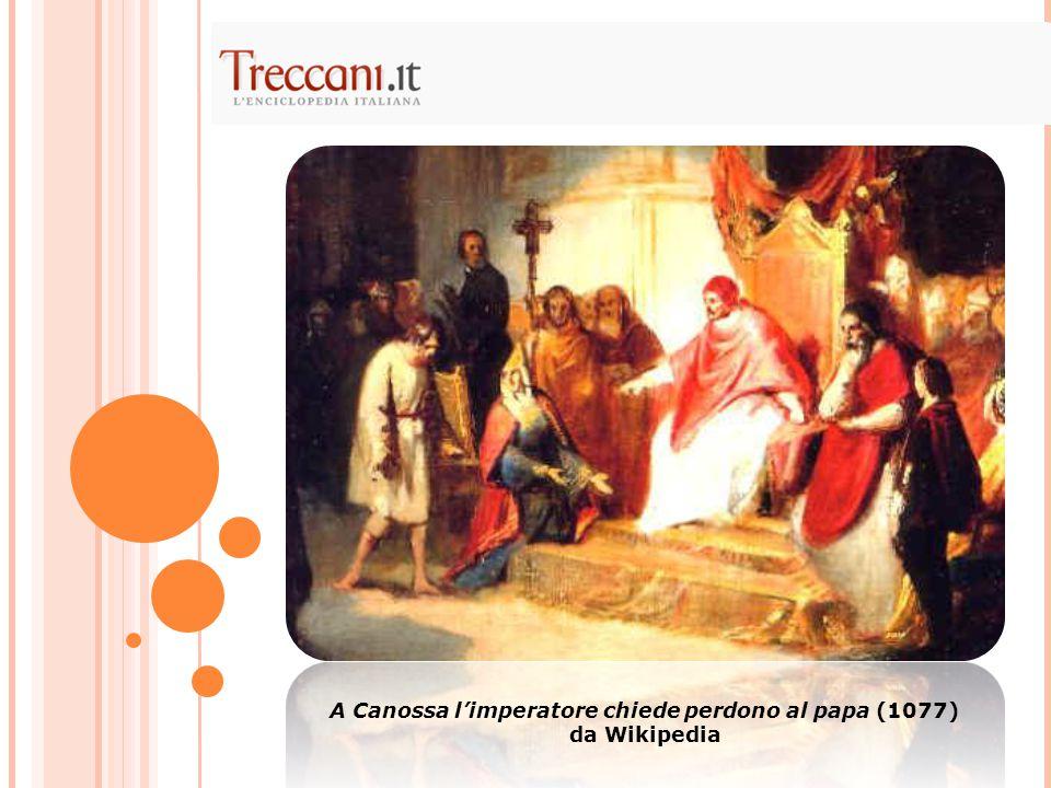 A Canossa l'imperatore chiede perdono al papa (1077) da Wikipedia