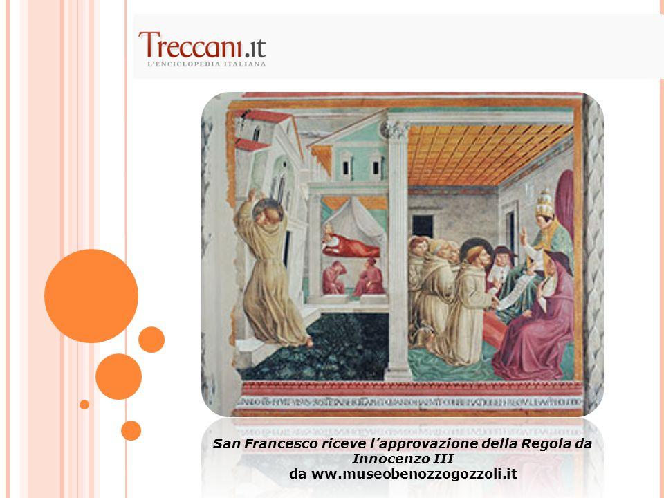 San Francesco riceve l'approvazione della Regola da Innocenzo III da ww.museobenozzogozzoli.it