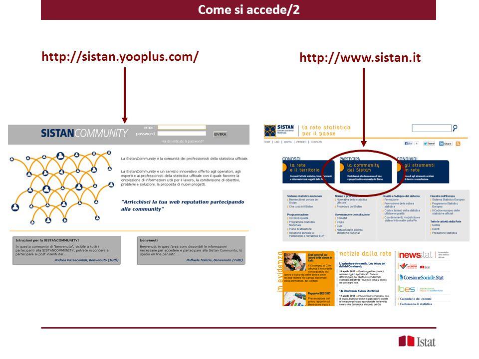 Come si accede/2 http://www.sistan.it http://sistan.yooplus.com/