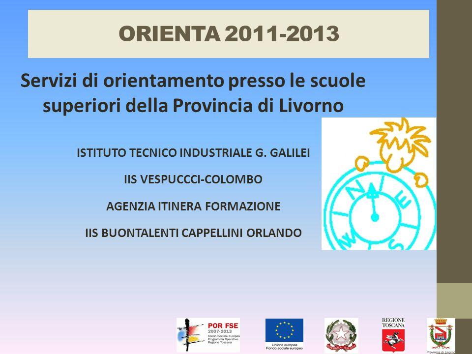ORIENTA 2011-2013 Servizi di orientamento presso le scuole superiori della Provincia di Livorno ISTITUTO TECNICO INDUSTRIALE G.