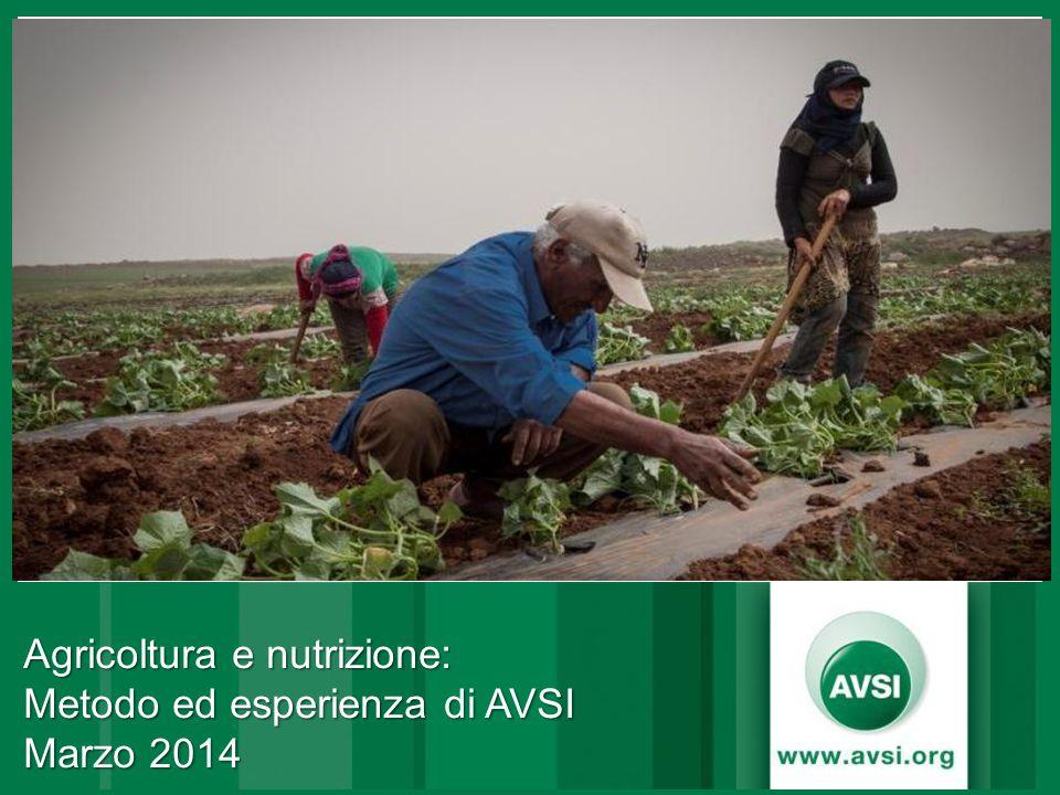 Agricoltura e nutrizione: Metodo ed esperienza di AVSI Marzo 2014