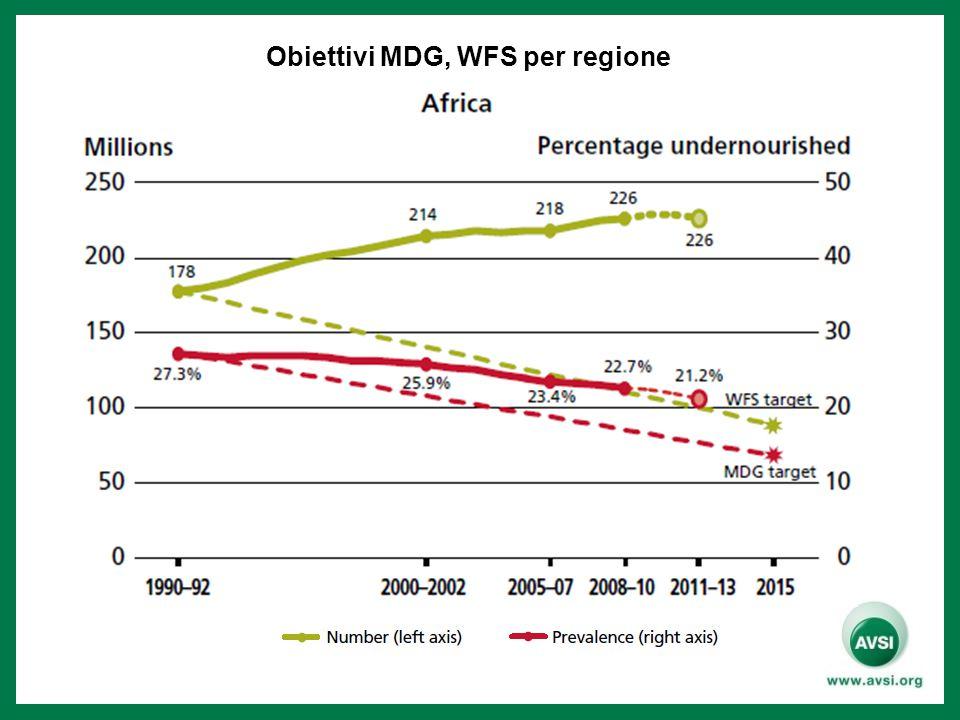 Obiettivi MDG, WFS per regione