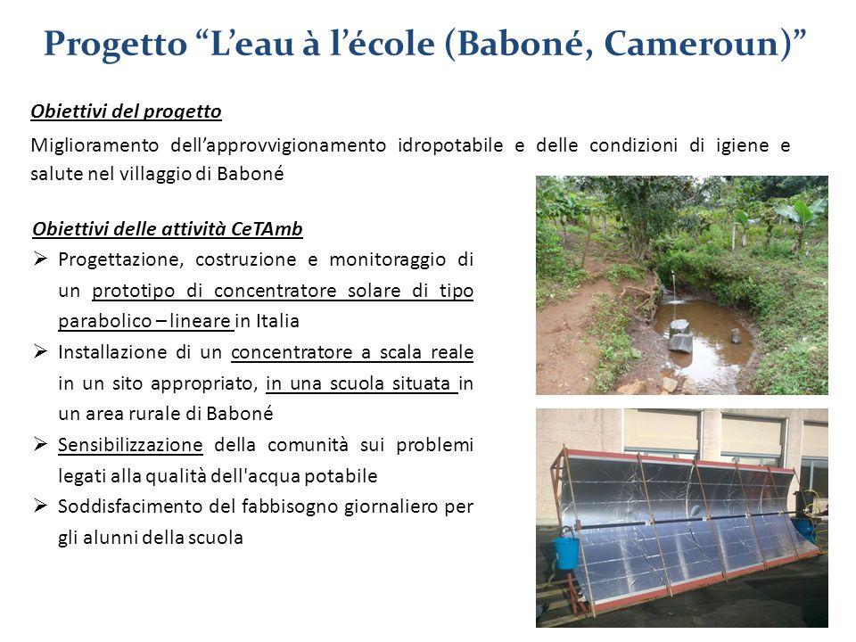 Obiettivi del progetto Miglioramento dell'approvvigionamento idropotabile e delle condizioni di igiene e salute nel villaggio di Baboné Obiettivi dell