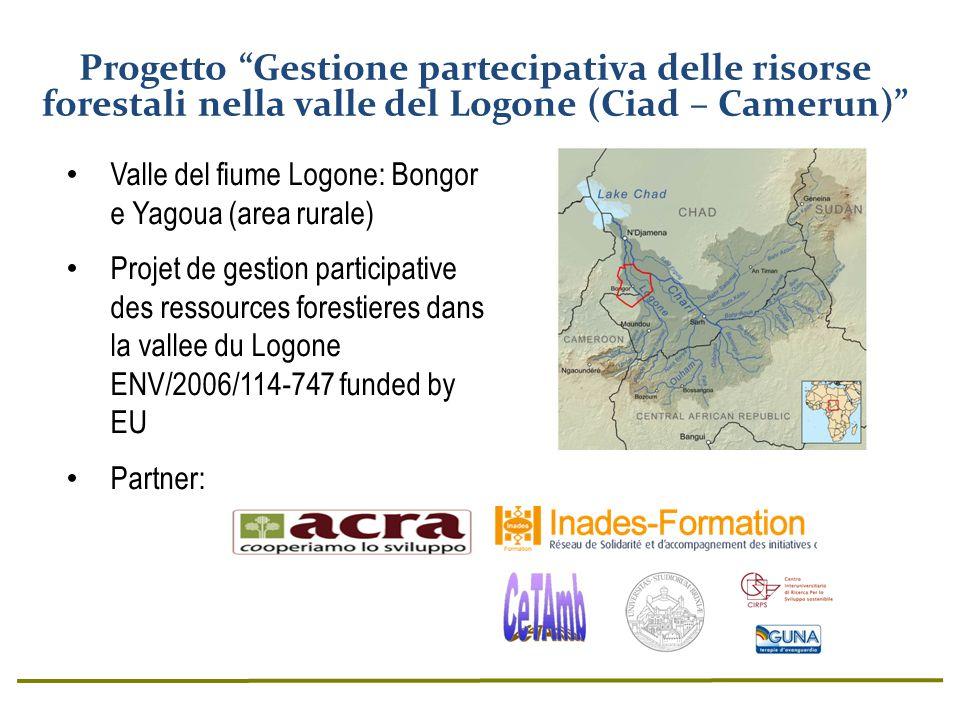 Valle del fiume Logone: Bongor e Yagoua (area rurale) Projet de gestion participative des ressources forestieres dans la vallee du Logone ENV/2006/114