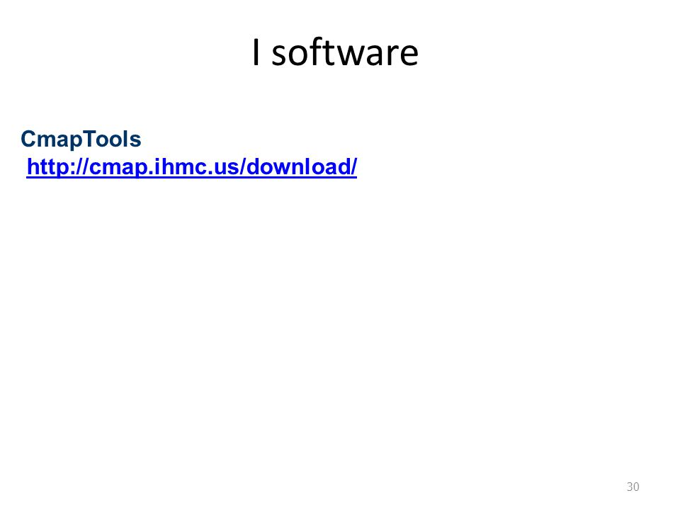 I software CmapTools http://cmap.ihmc.us/download/ 30