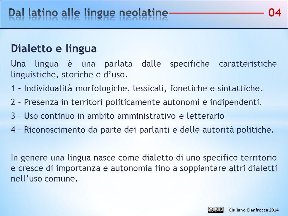 Dialetto e lingua Una lingua è una parlata dalle specifiche caratteristiche linguistiche, storiche e d'uso. 1 – Individualità morfologiche, lessicali,