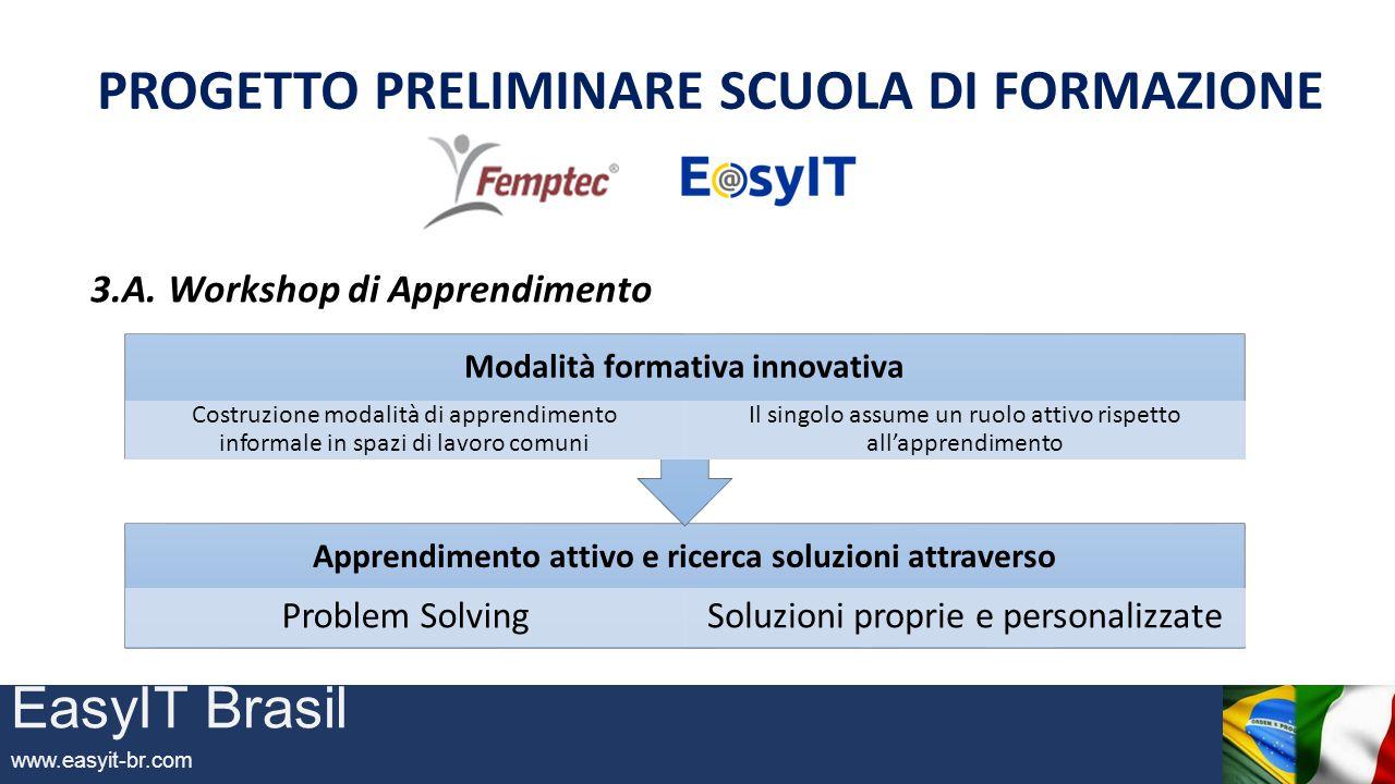 EasyIT Brasil www.easyit-br.com PROGETTO PRELIMINARE SCUOLA DI FORMAZIONE 3.A.