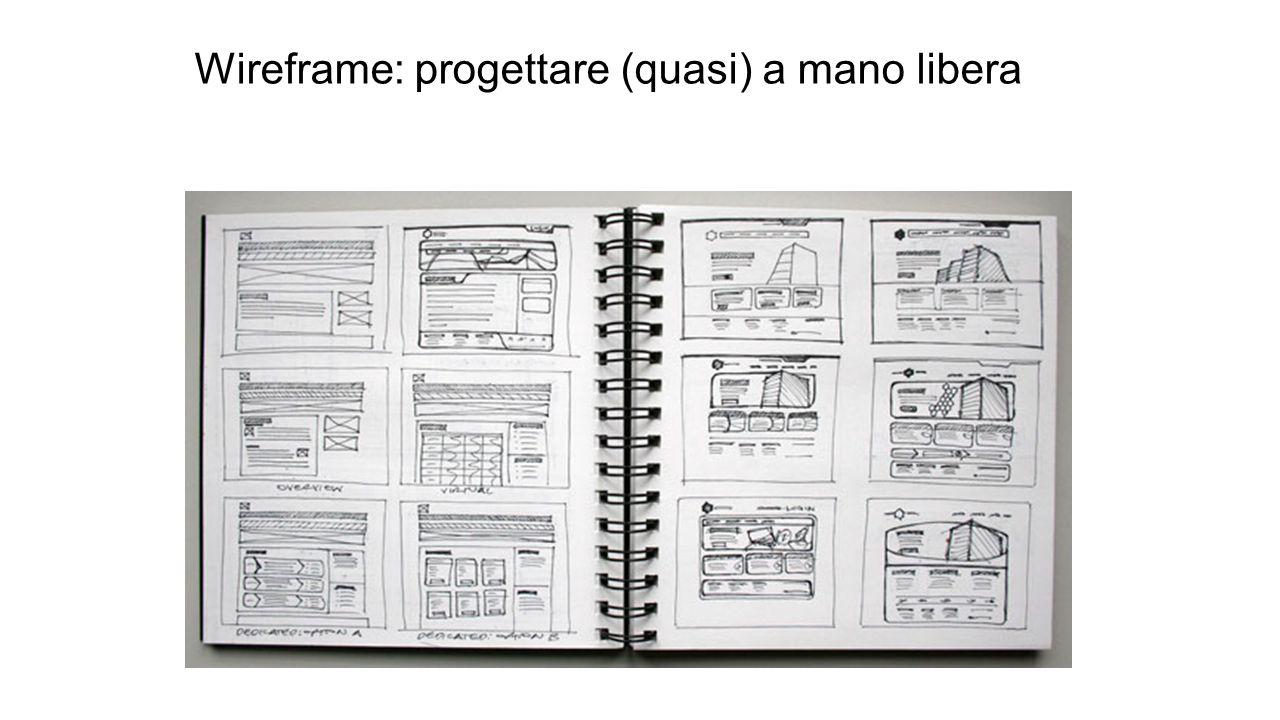 Wireframe: progettare (quasi) a mano libera