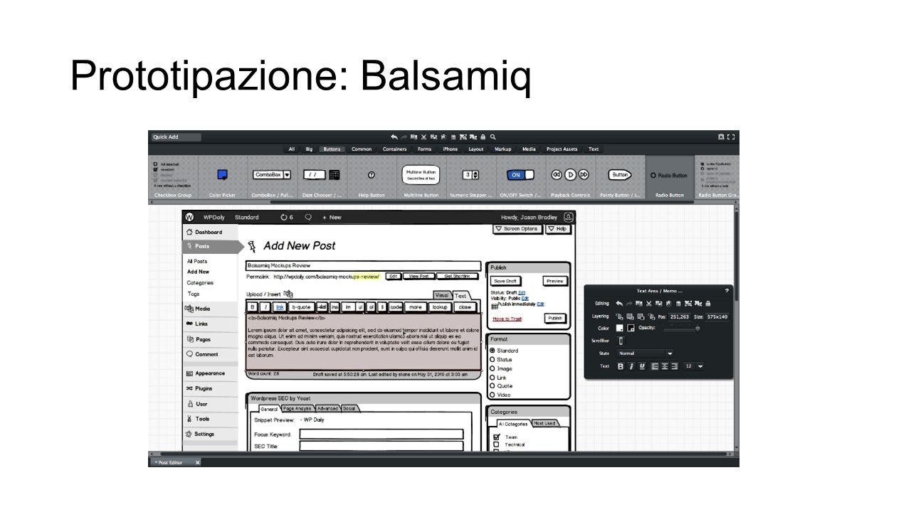 Prototipazione: Balsamiq