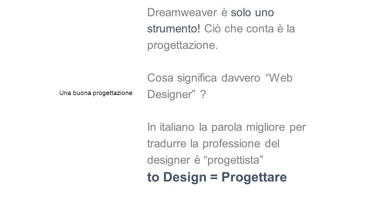 """Dreamweaver è solo uno strumento! Ciò che conta è la progettazione. Cosa significa davvero """"Web Designer"""" ? In italiano la parola migliore per tradurr"""