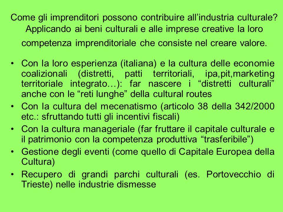 Come gli imprenditori possono contribuire all'industria culturale.