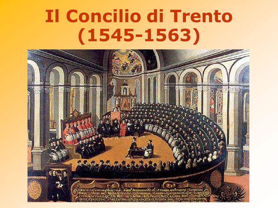 Apertosi nel 1545, per diciott'anni si prolungò tra interruzioni e spostamenti fino al 1563 sotto Paolo III, Giulio III, Paolo IV e Pio IV.