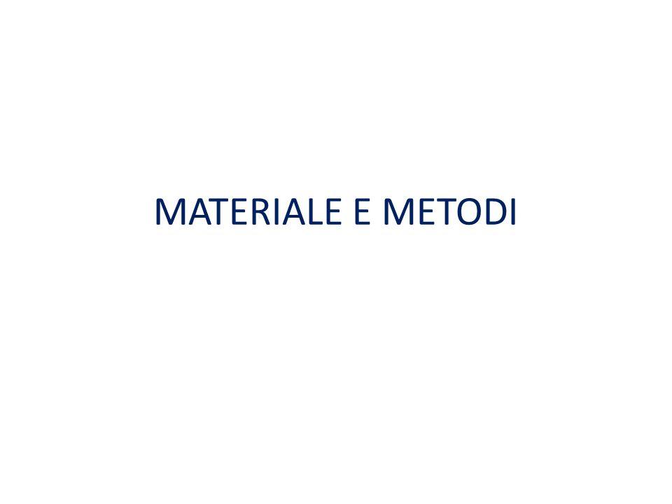 MATERIALE E METODI