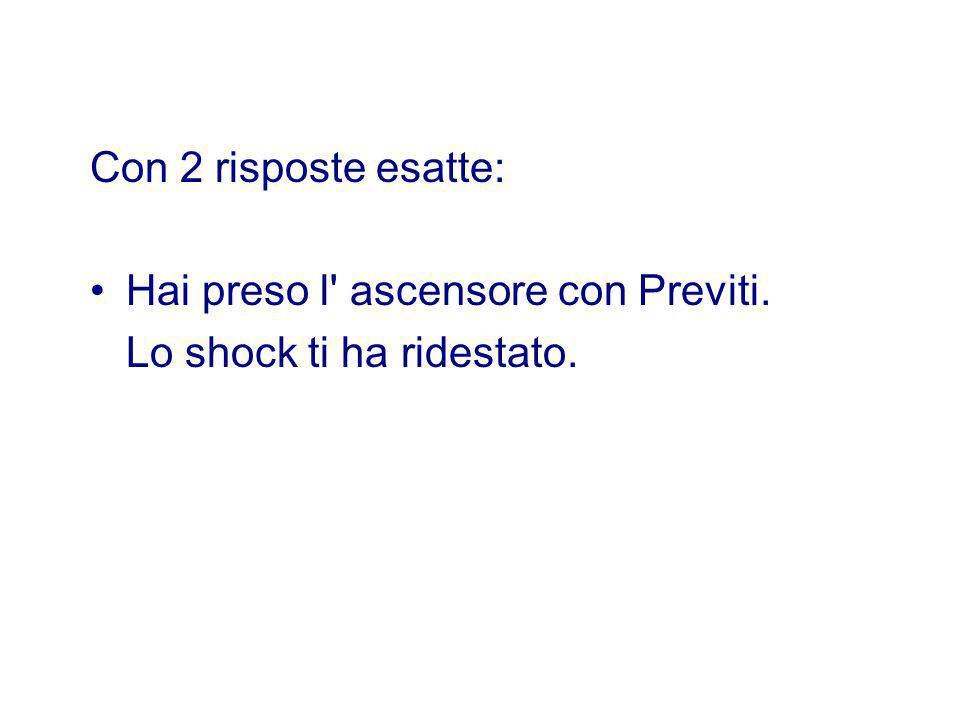 Con 2 risposte esatte: Hai preso l' ascensore con Previti. Lo shock ti ha ridestato.