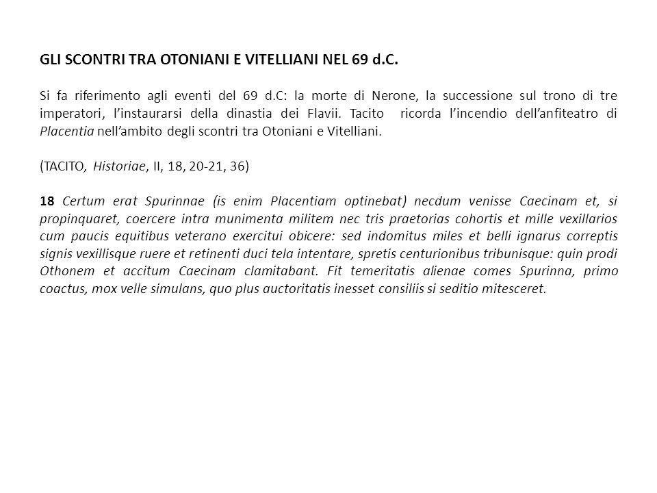 GLI SCONTRI TRA OTONIANI E VITELLIANI NEL 69 d.C.
