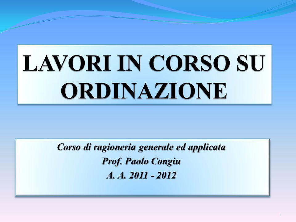 Corso di ragioneria generale ed applicata Prof. Paolo Congiu A.