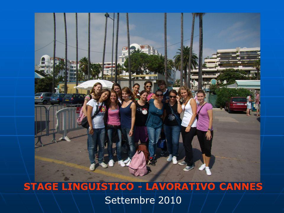 STAGE LINGUISTICO - LAVORATIVO CANNES Settembre 2010